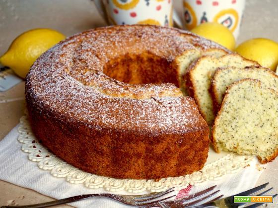 Chiffon Cake al Limone e Semi di Papavero
