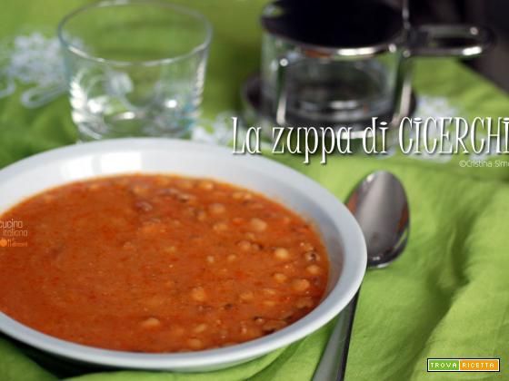 La zuppa di cicerchie, ricetta regionale italiana