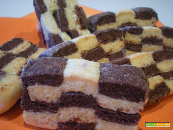 Biscotti a scacchi - Ricetta biscotti a scacchi