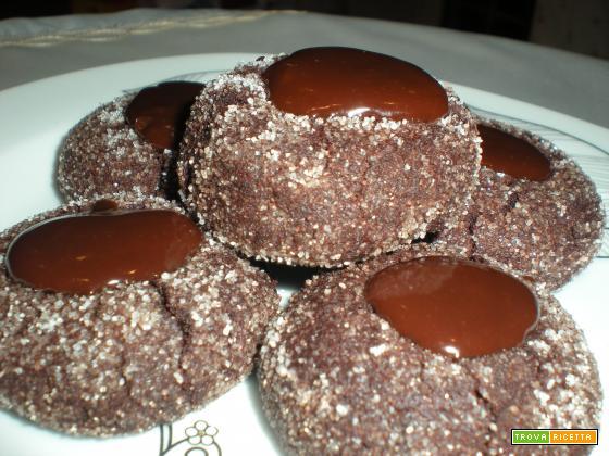 biscotti fossette cioccolato