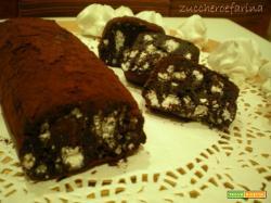 Salame al cioccolato con meringhe