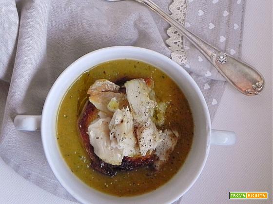 Zuppa di Zucca e Verza con Filetto di Merluzzo