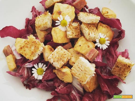 caesar salad alla veneta con radicchio di chioggia