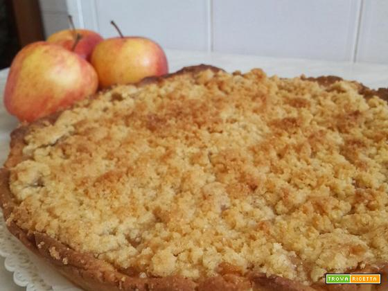 Crostata Crumble di Mele – Apple Crumble Pie
