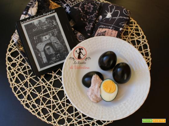 MANGIA CIO' CHE LEGGI 85: Uova nere ispirate da Oscure regioni vol.2 racconti dell'orrore di Luigi Musolino
