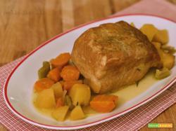 Arista di maiale semplice alle verdure