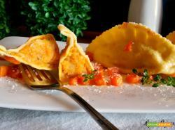 Ravioloni con zucca e patate