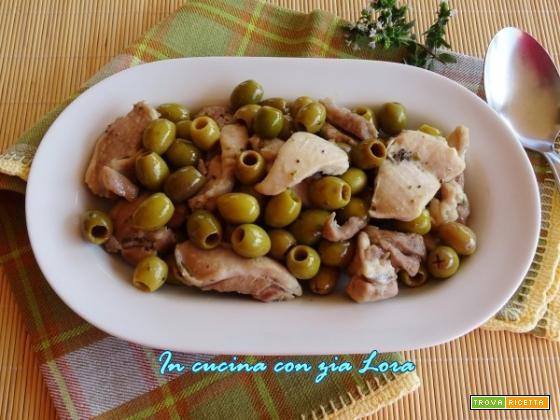 Straccetti di pollo origano e olive