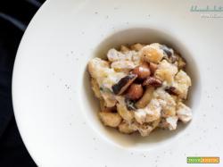 Gnocchi con crema di castagne, funghi e gorgonzola