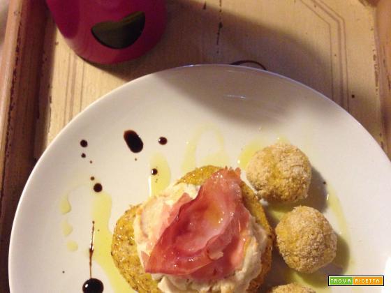 Panini di polenta e polpette anti-spreco