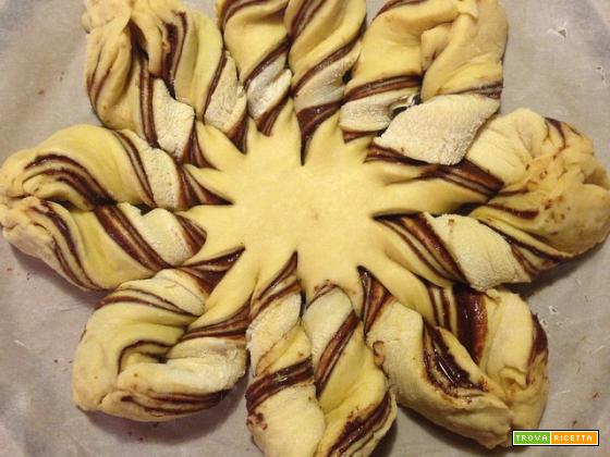 Pan brioche veloce (stella al cioccolato e pan goccioli)