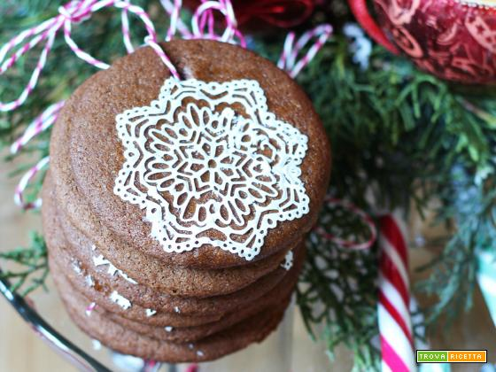 Christmas Tree Cookies al cacao, zenzero e cannella