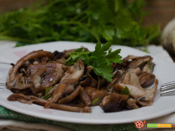Funghi trifolati in padella con aglio e prezzemolo