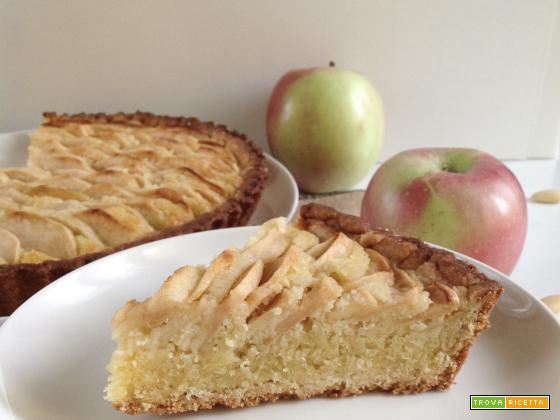Crostata di mele e frangipane