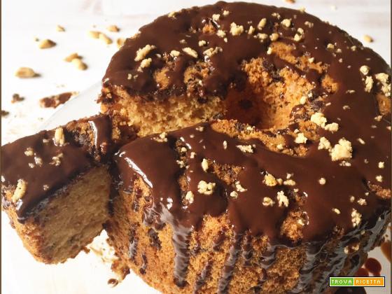 Fluffosa arachidi e gocce di cioccolato