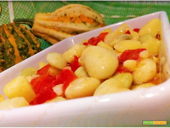 Insalata di fagioli patate e pomodori