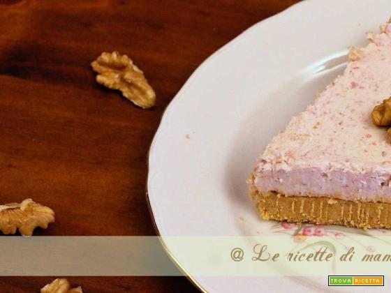 cheesecake salata con prosciutto e noci