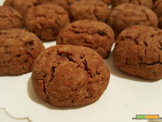 Biscotti con farina di ceci al miele, nesquik, con olio e senza uova