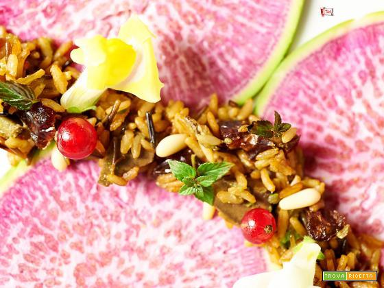 riso bicolore con rapa pompelmo