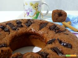 Torta banane e cacao senza uova con yogurt