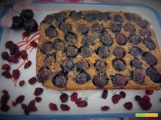 Clafoutis alle ciliegie vegan