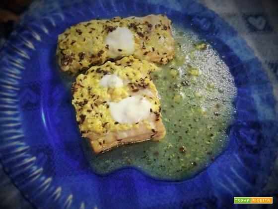 Filetti di pesce allo yogurt e semi di cumino