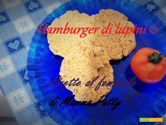 Hamburger vegan di lupini