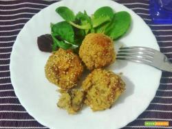 Polpette quinoa e funghi al forno