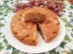 Torta all'uva senza grassi versione vegan