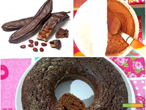 Torta con farina di carrube senza lattosio
