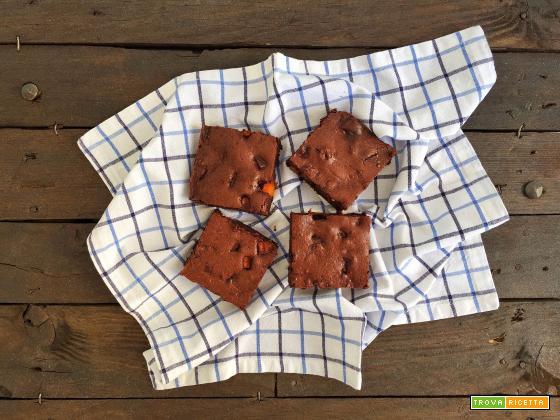 Brownie cioccolato fondete e zucca