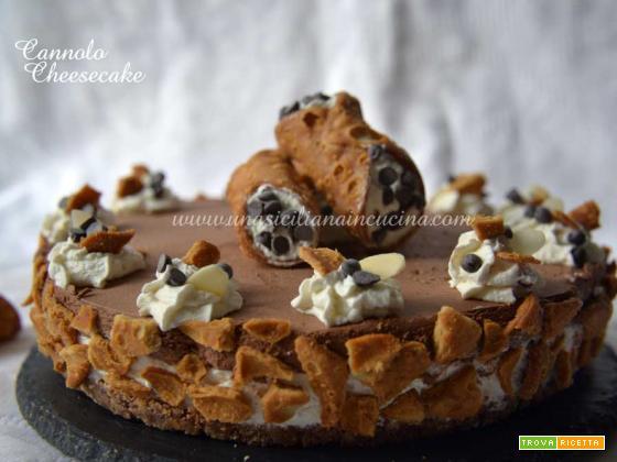 Cannolo cheesecake ricotta e cioccolato