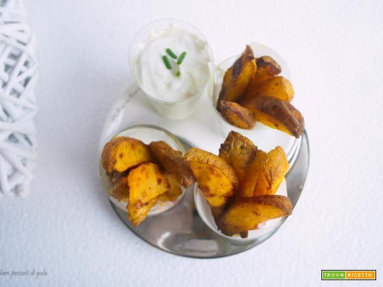 Stick di patatine con curcuma e zenzero