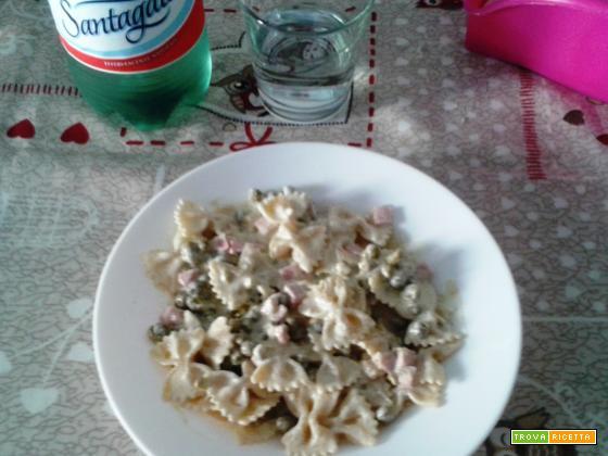 FARFALLE PANNA, COTTO & PISELLI