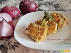 Frittata con cipolla e asparagi selvatici