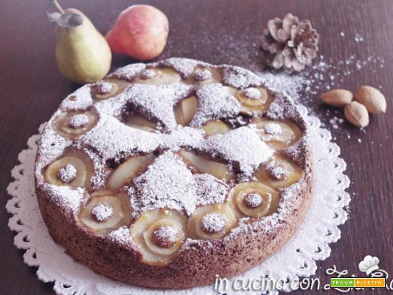 Torta cioccolato cocco mandorle e pere