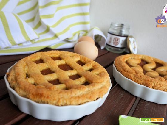 Crostata con confettura di pere e zafferano