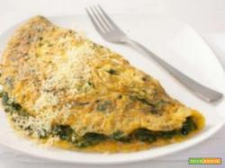 Omlette spinaci e mozzarella