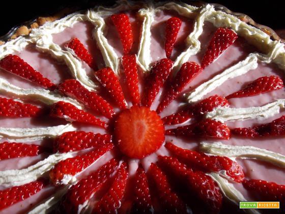 Crostata di crema alle fragole