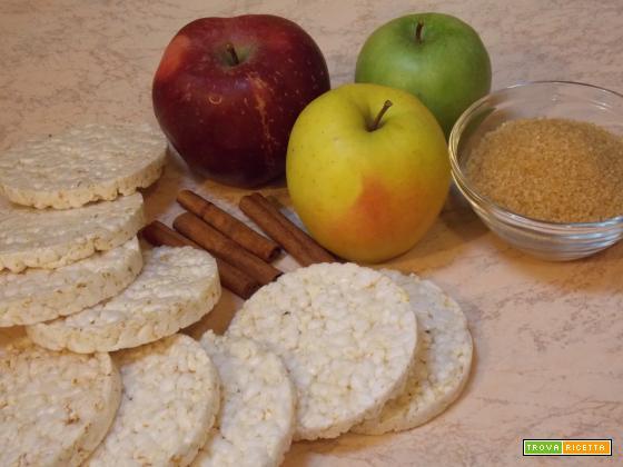 Gallette di riso al profumo di mele e cannella