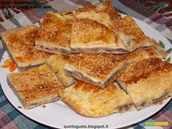 Torta salata di funghi e formaggi