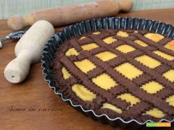 Crostata al cioccolato e crema pasticciera
