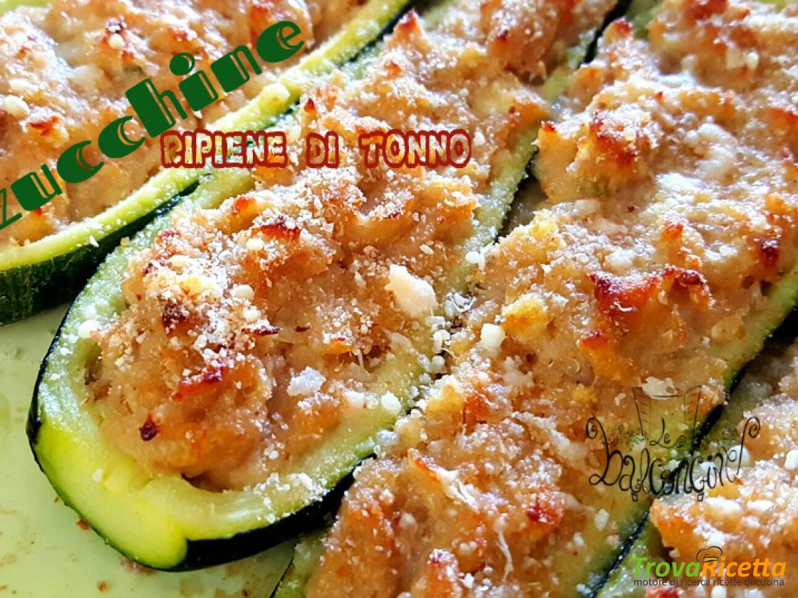 Ricetta Zucchine Ripiene Con Tonno.Zucchine Ripiene Al Tonno Ricetta Trovaricetta Com