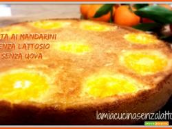 Torta ai mandarini senza uova senza lattosio