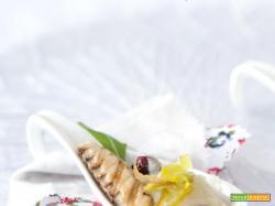 Sgombro grigliato con topinambur e porro fritto