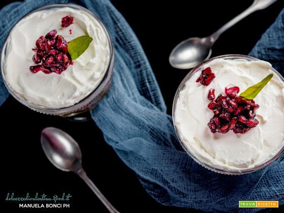 Cheesecake di mascarpone & melagrana