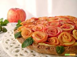 Crostata senza zucchero con rose di mela Ancorapiùbuono