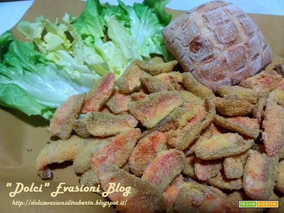 Filetti di Triglia fritti nel mais e Insalata Siciliana di Arance, Finocchi e Olive