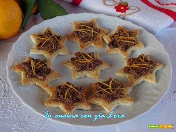 Stelline di pancarrè con patè di olive taggiasche