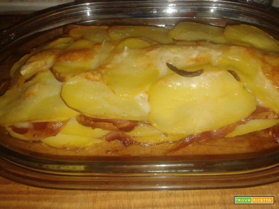 Tortino di patate e prosciutto crudo